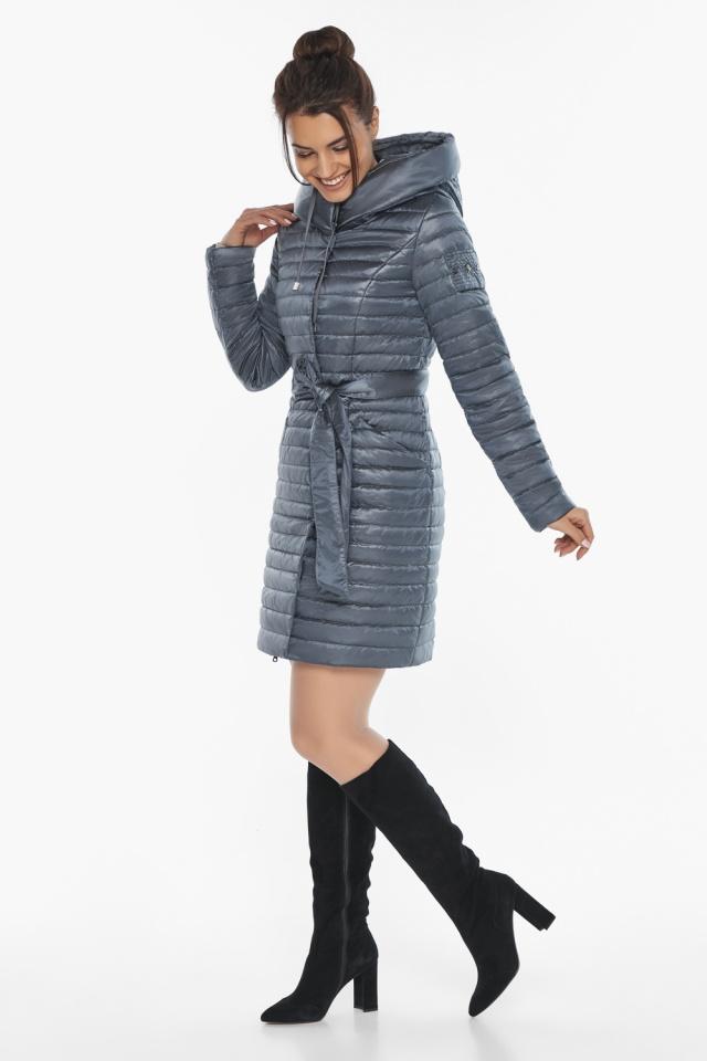"""Женская куртка с капюшоном осенне-весенняя цвета маренго модель 66870 Braggart """"Angel's Fluff"""" фото 2"""