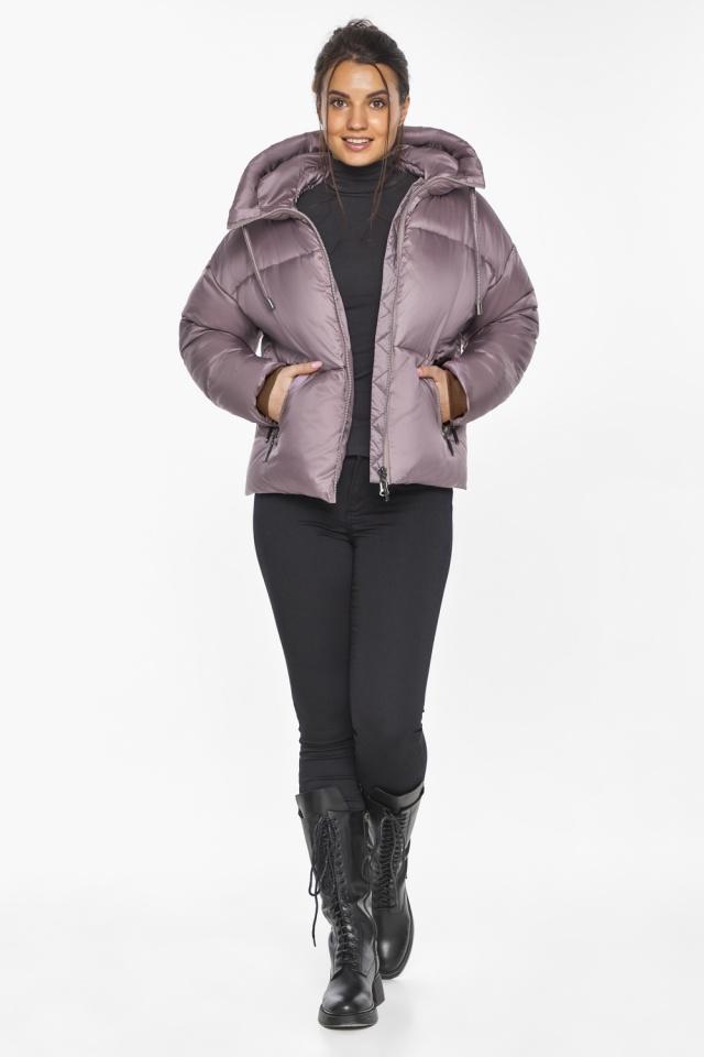 """Пудровая куртка зимняя женская короткая модель 46280 Braggart """"Angel's Fluff"""" фото 4"""