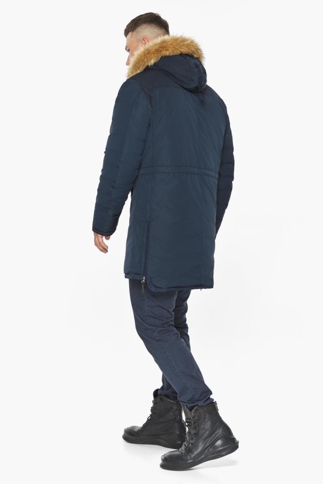 """Куртка – воздуховик стильный мужской зимний цвет тёмно-синий модель 30551 Braggart """"Angel's Fluff Man"""" фото 9"""