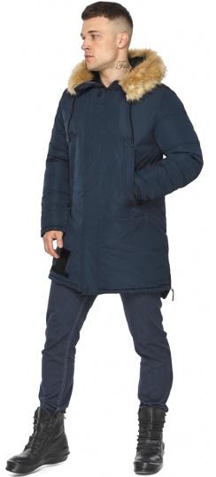 """Куртка – воздуховик стильный мужской зимний цвет тёмно-синий модель 30551 Braggart """"Angel's Fluff Man"""" фото 1"""