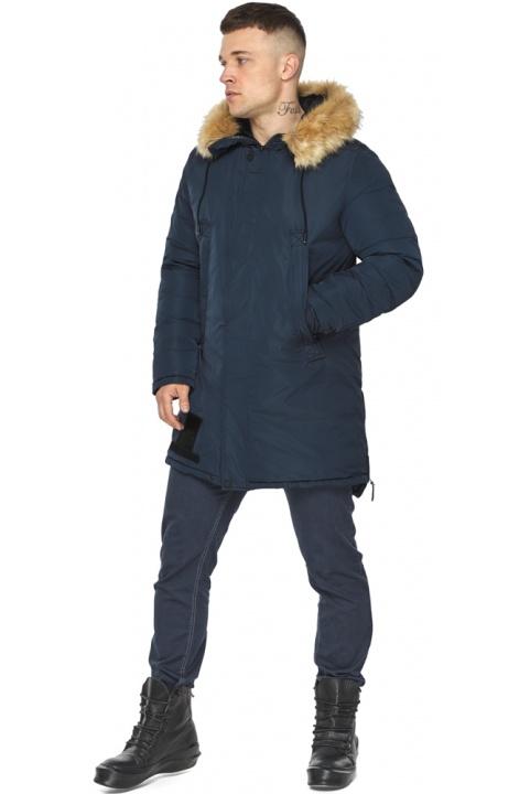 """Куртка – воздуховик стильний чоловічий зимовий колір темно-синій модель 30551 Braggart """"Angel's Fluff Man"""" фото 1"""
