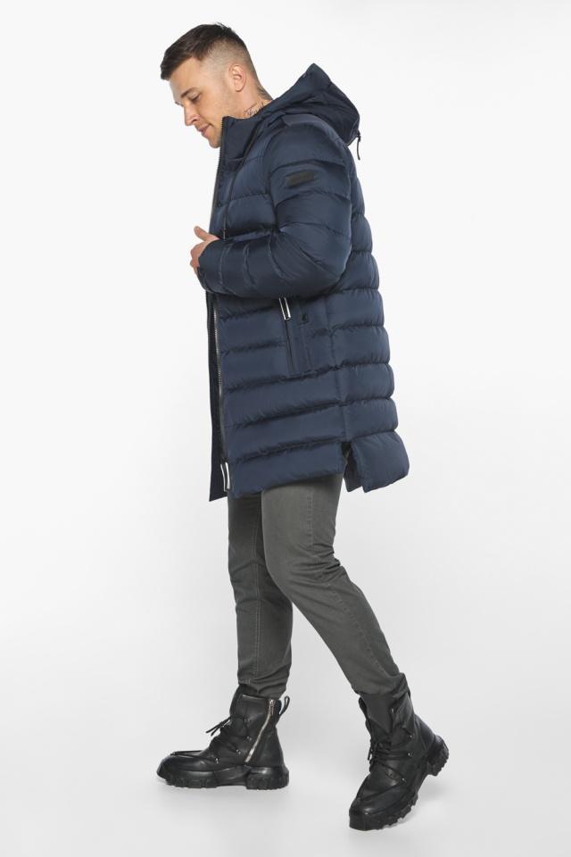 "Модная тёмно-синяя мужская куртка на зиму модель 49008 Braggart ""Aggressive"" фото 7"