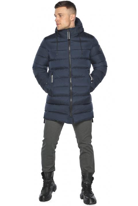 "Модная тёмно-синяя мужская куртка на зиму модель 49008 Braggart ""Aggressive"" фото 1"