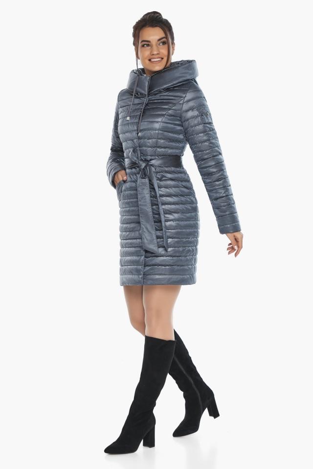 """Женская куртка с капюшоном осенне-весенняя цвета маренго модель 66870 Braggart """"Angel's Fluff"""" фото 5"""