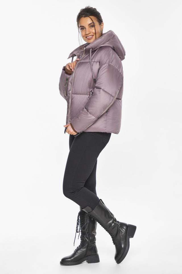 """Пудровая куртка зимняя женская короткая модель 46280 Braggart """"Angel's Fluff"""" фото 5"""