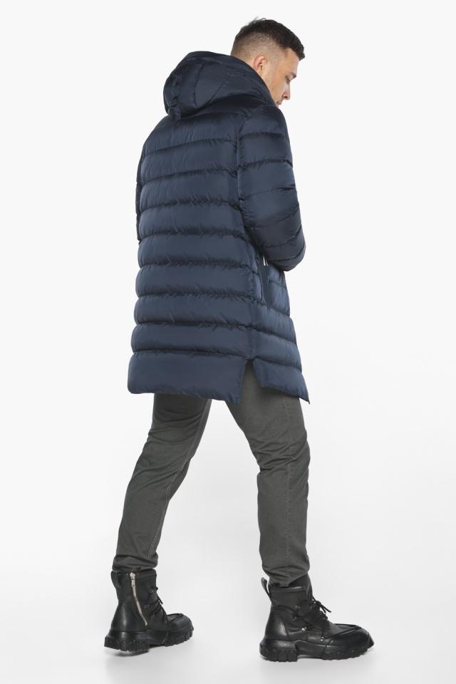 "Модная тёмно-синяя мужская куртка на зиму модель 49008 Braggart ""Aggressive"" фото 8"