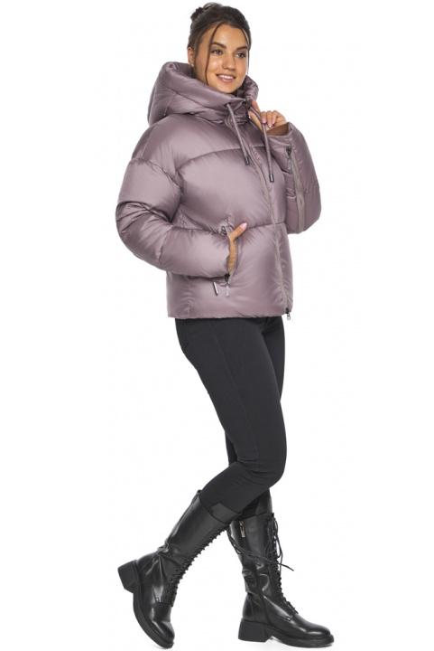 """Пудровая куртка зимняя женская короткая модель 46280 Braggart """"Angel's Fluff"""" фото 1"""
