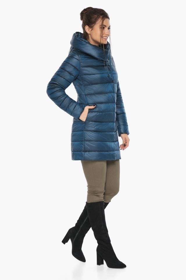 """Куртка на молнии женская осенне-весенняя цвет темная лазурь модель 65085 Braggart """"Angel's Fluff"""" фото 3"""