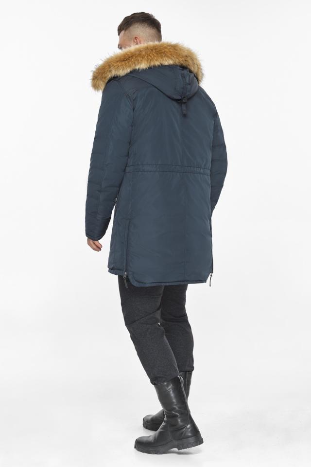 """Куртка – воздуховик удобный мужской графитово-синий зимний модель 30551 Braggart """"Angel's Fluff Man"""" фото 9"""