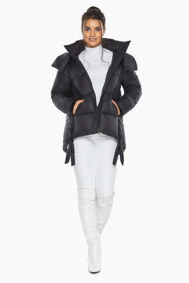 """Черная женская куртка практичная модель 43070 Braggart """"Angel's Fluff"""" фото 4"""