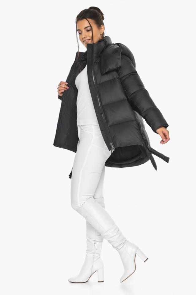 """Черная женская куртка практичная модель 43070 Braggart """"Angel's Fluff"""" фото 3"""