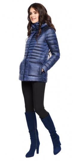 """Сапфировая женская куртка короткая модель 15115 Braggart """"Angel's Fluff"""" фото 1"""