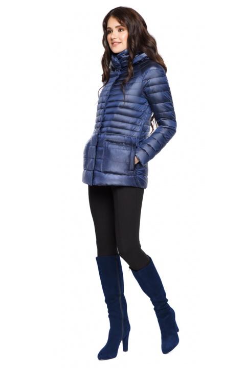 """Сапфірова жіноча куртка коротка модель 15115 Braggart """"Angel's Fluff"""" фото 1"""