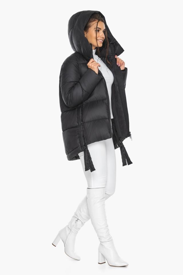 """Черная женская куртка практичная модель 43070 Braggart """"Angel's Fluff"""" фото 7"""