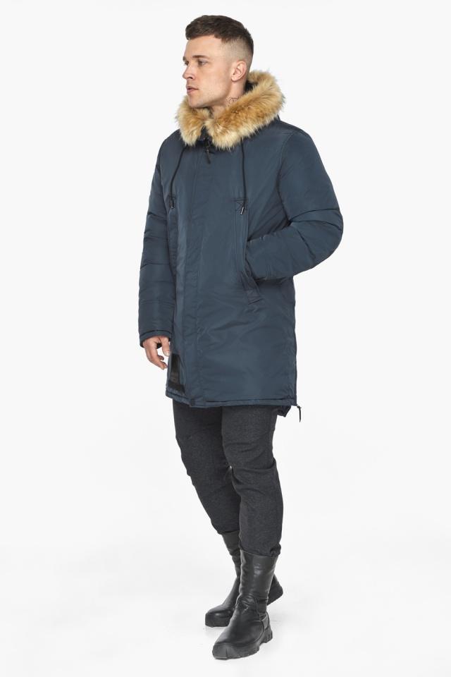 """Куртка – воздуховик удобный мужской графитово-синий зимний модель 30551 Braggart """"Angel's Fluff Man"""" фото 7"""
