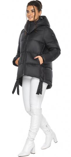 """Черная женская куртка практичная модель 43070 Braggart """"Angel's Fluff"""" фото 1"""