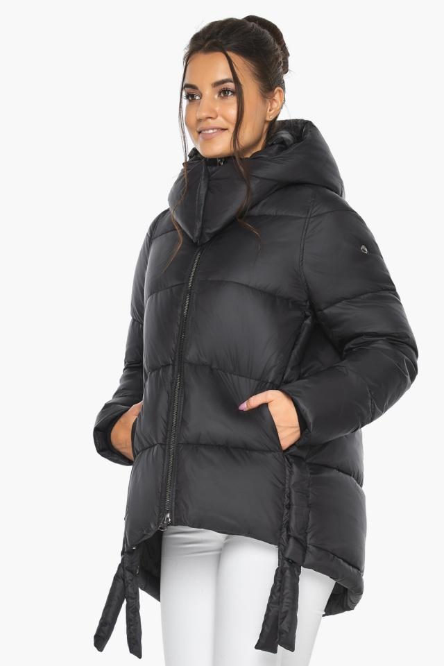 """Черная женская куртка практичная модель 43070 Braggart """"Angel's Fluff"""" фото 6"""
