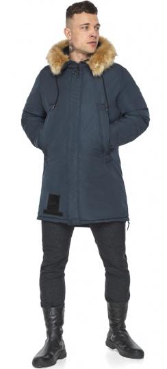 """Куртка – воздуховик удобный мужской графитово-синий зимний модель 30551 Braggart """"Angel's Fluff Man"""" фото 1"""