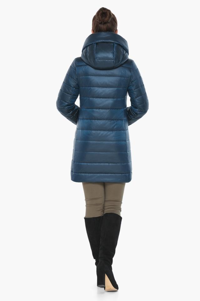 """Куртка на молнии женская осенне-весенняя цвет темная лазурь модель 65085 Braggart """"Angel's Fluff"""" фото 5"""