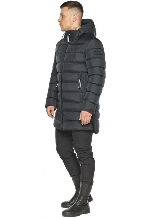 """Графитовая практичная мужская зимняя куртка модель 49008 Braggart """"Aggressive"""" фото 1"""