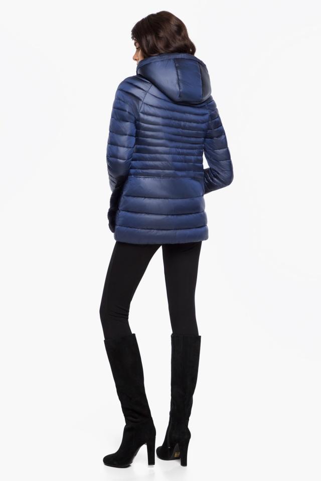"""Сапфировая женская куртка короткая модель 15115 Braggart """"Angel's Fluff"""" фото 5"""