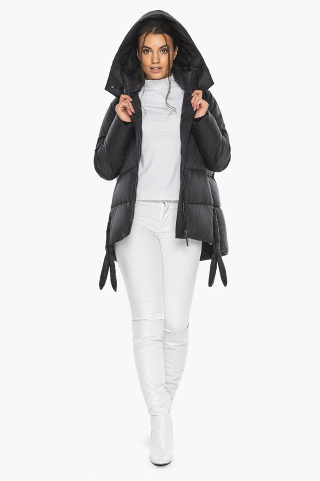 """Черная женская куртка практичная модель 43070 Braggart """"Angel's Fluff"""" фото 8"""