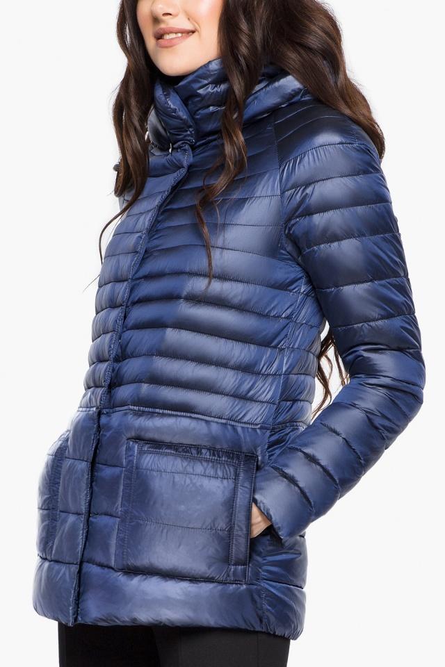 """Сапфировая женская куртка короткая модель 15115 Braggart """"Angel's Fluff"""" фото 6"""