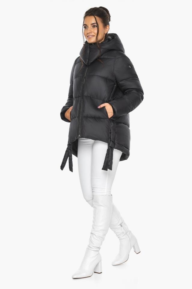 """Черная женская куртка практичная модель 43070 Braggart """"Angel's Fluff"""" фото 2"""