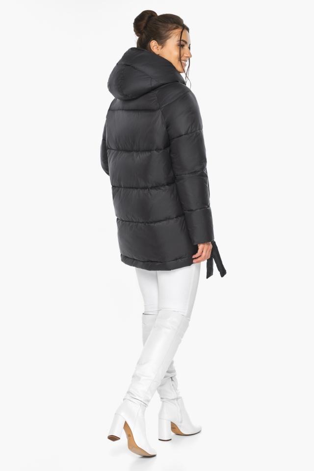 """Черная женская куртка практичная модель 43070 Braggart """"Angel's Fluff"""" фото 9"""