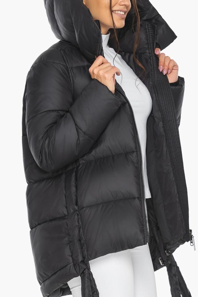 """Черная женская куртка практичная модель 43070 Braggart """"Angel's Fluff"""" фото 10"""