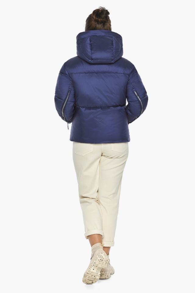 """Куртка женская с вшитым капюшоном зимняя цвет синий бархат модель 46280 Braggart """"Angel's Fluff"""" фото 5"""