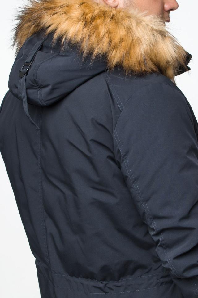 "Удобная мужская зимняя парка тёмно-синяя модель 25770 Braggart ""Youth"" фото 11"
