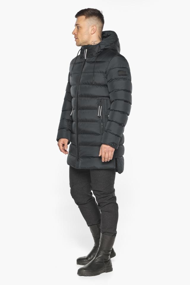 """Графитовая практичная мужская зимняя куртка модель 49008 Braggart """"Aggressive"""" фото 2"""