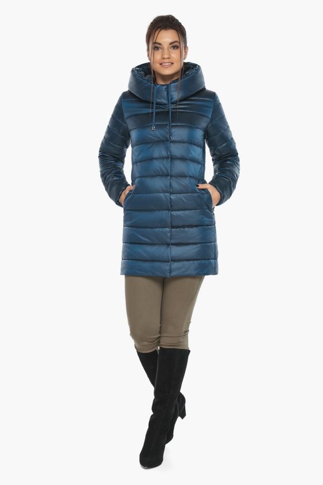 """Куртка на молнии женская осенне-весенняя цвет темная лазурь модель 65085 Braggart """"Angel's Fluff"""" фото 2"""