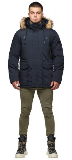 "Удобная мужская зимняя парка тёмно-синяя модель 25770 Braggart ""Youth"" фото 1"