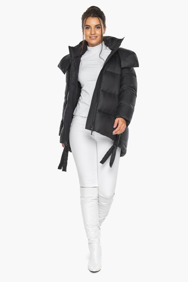"""Черная женская куртка практичная модель 43070 Braggart """"Angel's Fluff"""" фото 5"""