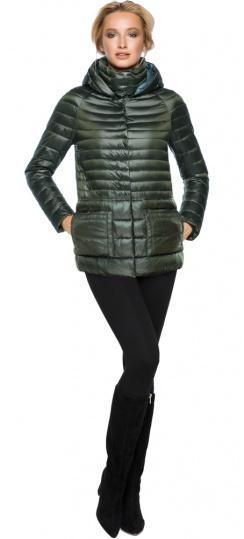 """Трендовая куртка женская цвет темный хаки модель 15115 Braggart """"Angel's Fluff"""" фото 1"""