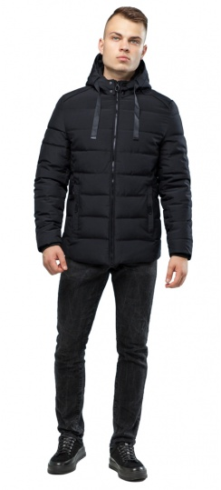 Фирменная чёрная куртка для мальчика зимняя модель 6008 Kiro Tokao фото 1