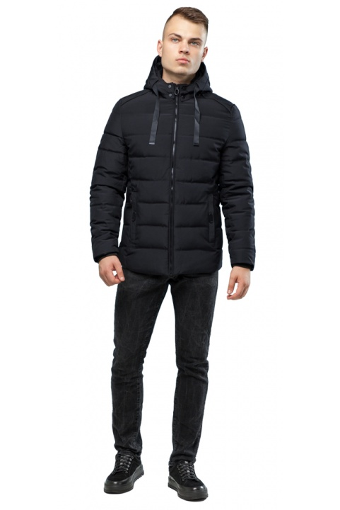 Фирменная чёрная куртка для мальчика зимняя модель 6008 Kiro Tokao – Ajento фото 1