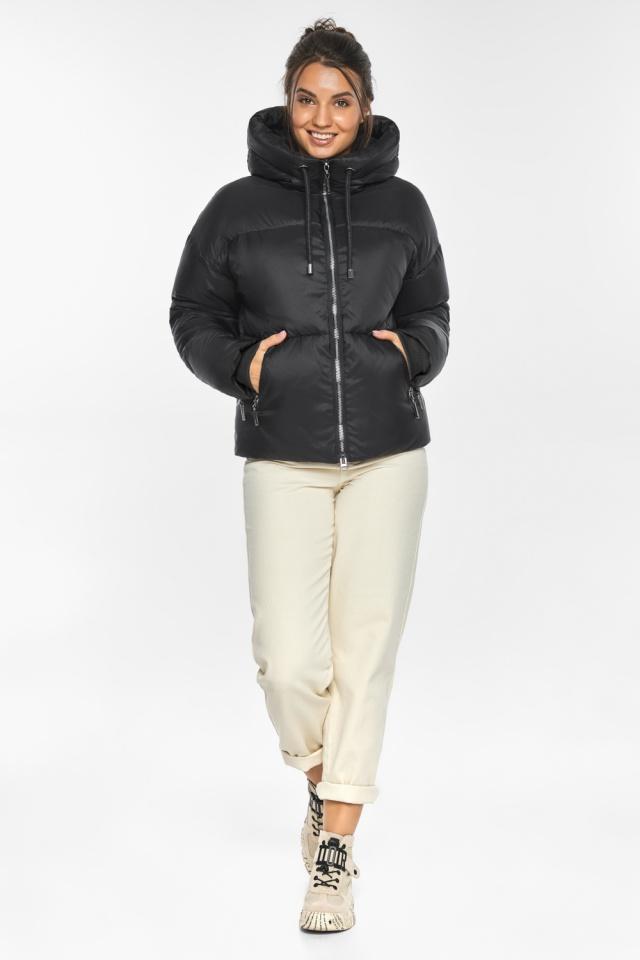 """Куртка женская чёрная зимняя фирменная модель 46280 Braggart """"Angel's Fluff"""" фото 2"""