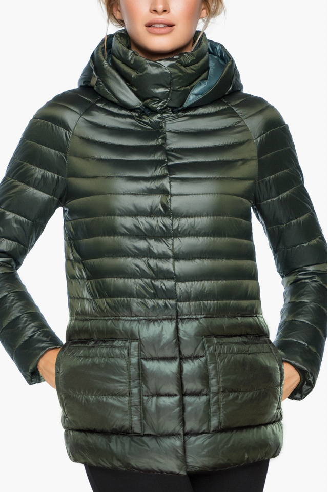 """Трендовая куртка женская цвет темный хаки модель 15115 Braggart """"Angel's Fluff"""" фото 6"""