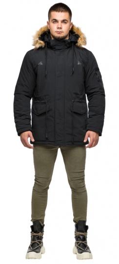 """Зимняя мужская куртка-парка чёрная модель 25770 Braggart """"Youth"""" фото 1"""