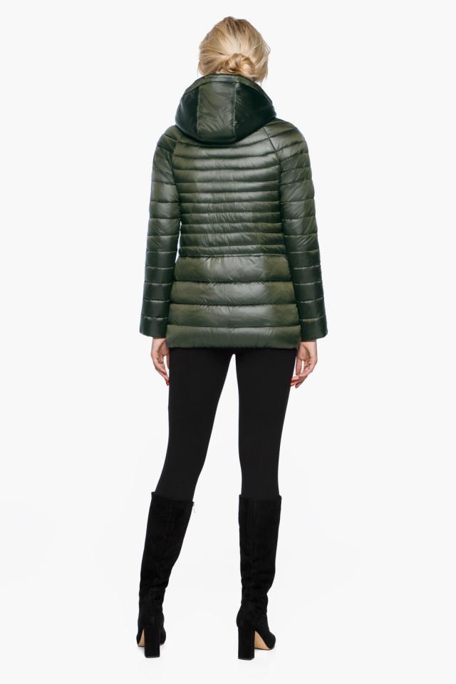 """Трендовая куртка женская цвет темный хаки модель 15115 Braggart """"Angel's Fluff"""" фото 5"""