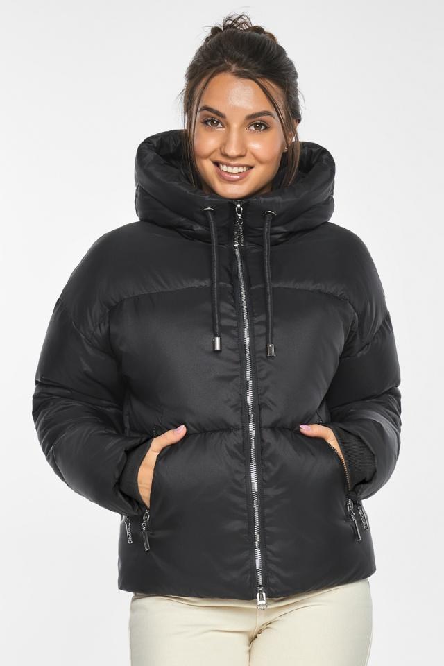 """Куртка женская чёрная зимняя фирменная модель 46280 Braggart """"Angel's Fluff"""" фото 6"""