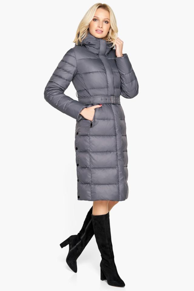 """Брендовая куртка женская цвет муссон модель 31052 Braggart """"Angel's Fluff"""" фото 5"""