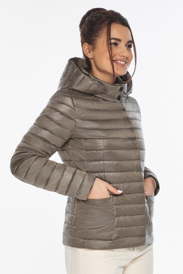 """Капучиновая куртка с накладными карманами женская на весну модель 67510 Braggart """"Angel's Fluff"""" фото 3"""