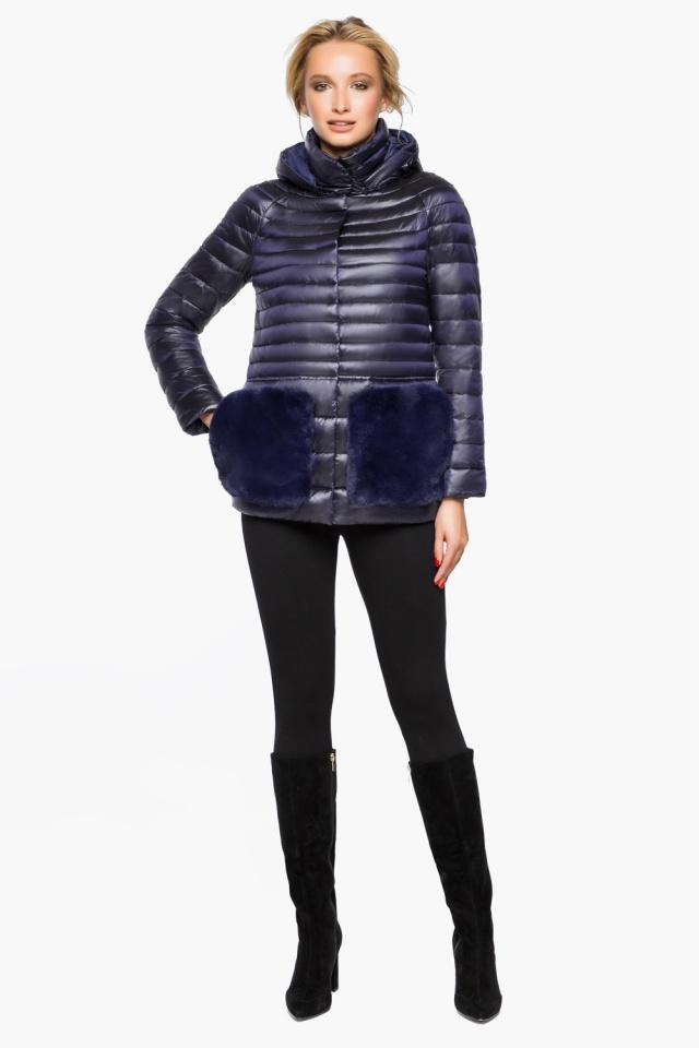 """Фиолетовая куртка прямого фасона женская модель 15115 Braggart """"Angel's Fluff"""" фото 3"""
