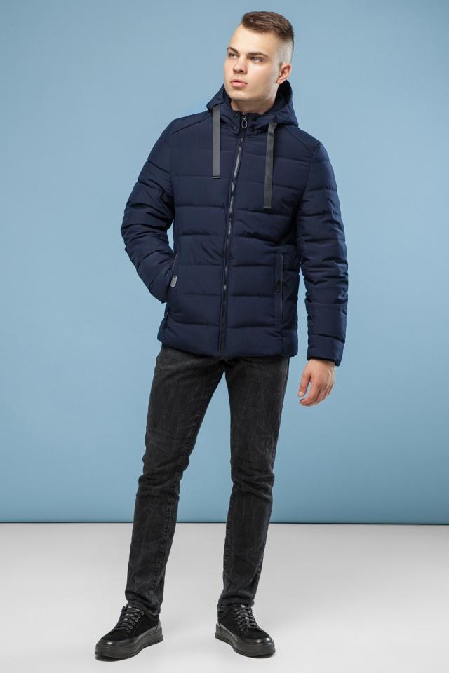 Подростковая куртка для мальчика зимняя тёмно-синяя модель 6008 Kiro Tokao фото 2