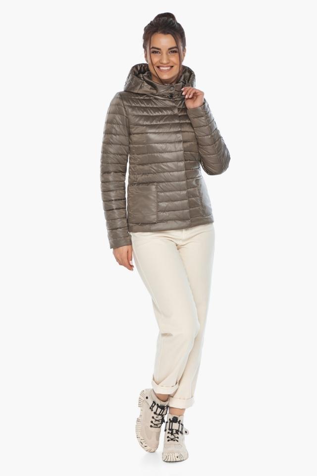 """Капучиновая куртка с накладными карманами женская на весну модель 67510 Braggart """"Angel's Fluff"""" фото 4"""