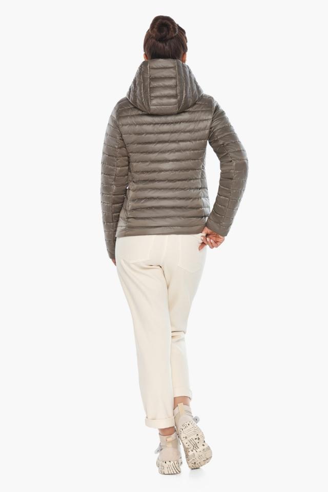 """Капучиновая куртка с накладными карманами женская на весну модель 67510 Braggart """"Angel's Fluff"""" фото 6"""
